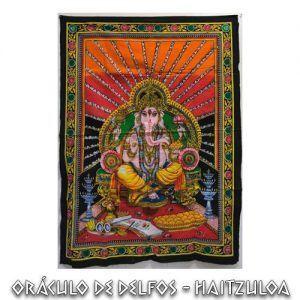 Ganesha en su trono