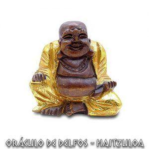 Buda happy tallado en madera
