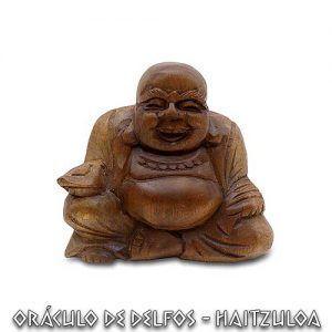 Buda Happy (gordo) tallado en madera
