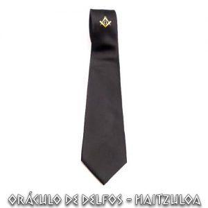 Corbata escuadra compás poliester