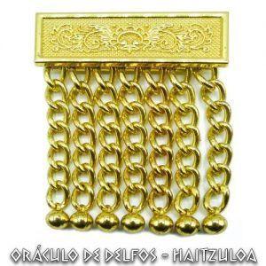 Borlas masónicas doradas