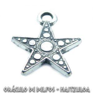 Colgante plata estrella flamigera