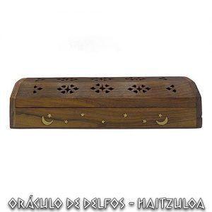 Incensario caja madera estrellas y luna