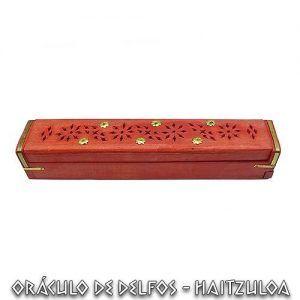 Incensario caja madera Rojo