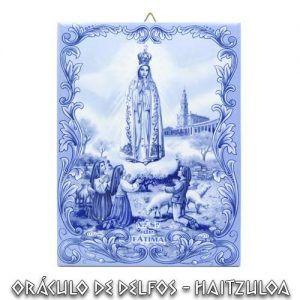 Azulejo Virgen de Fátima Azul