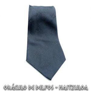 Corbata negra Compás y Escuadra mosaico