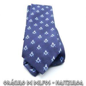 Corbata Azul Compás y Escuadra