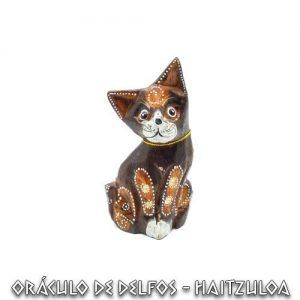 Figura Gato madera Pequeño 10 cm