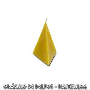 Vela Pirámide miel