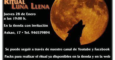 Ritual Luna llena - 28 Enero 19:00 h.