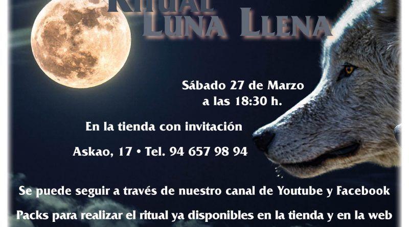 Ritual Luna llena - 27 Marzo 18:30 h.