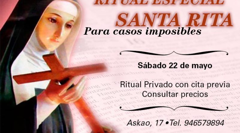 Ritual especial San Rita
