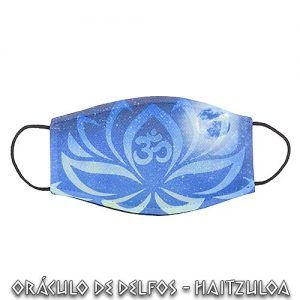 Mascarilla Símbolo de Ohm y Flor de Loto