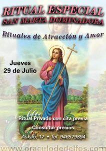 Ritual especial Santa Marta Dominadora